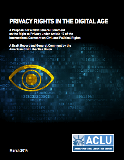 OPBP assists ACLU on consultation report 'Privacy Rights in the Digital Age'