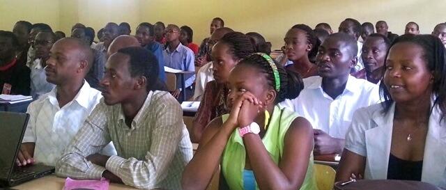Students at the University of Rwanda.