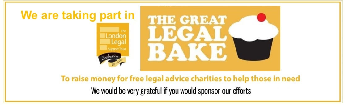 Great Legal Bake!  OxHRH, OLA and OPBP Bake for Justice!