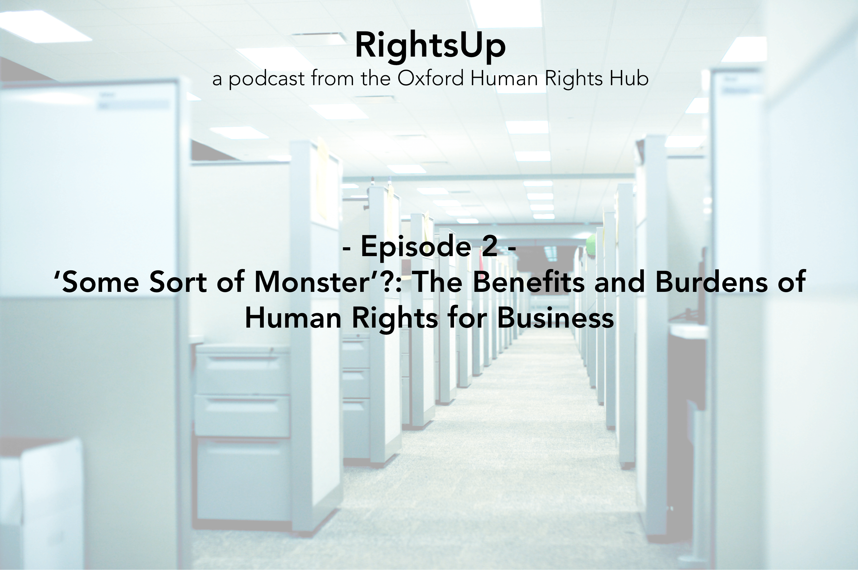 RightsUp – Episode 2 – 'Some Sort of Monster?': The Benefits and Burdens of Human Rights for Business