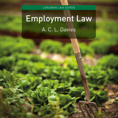 Book Release: Employment Law by Professor Anne Davies (Oxford)