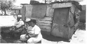 Shack occupied by mine worker and his family (Image: A Benya)