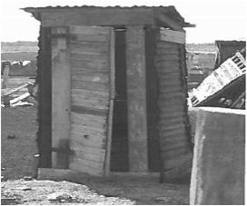 Pit latrine in Nkaneng (Image: A Benya)