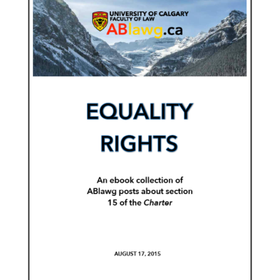 Canadian Equality Rights E-book Published