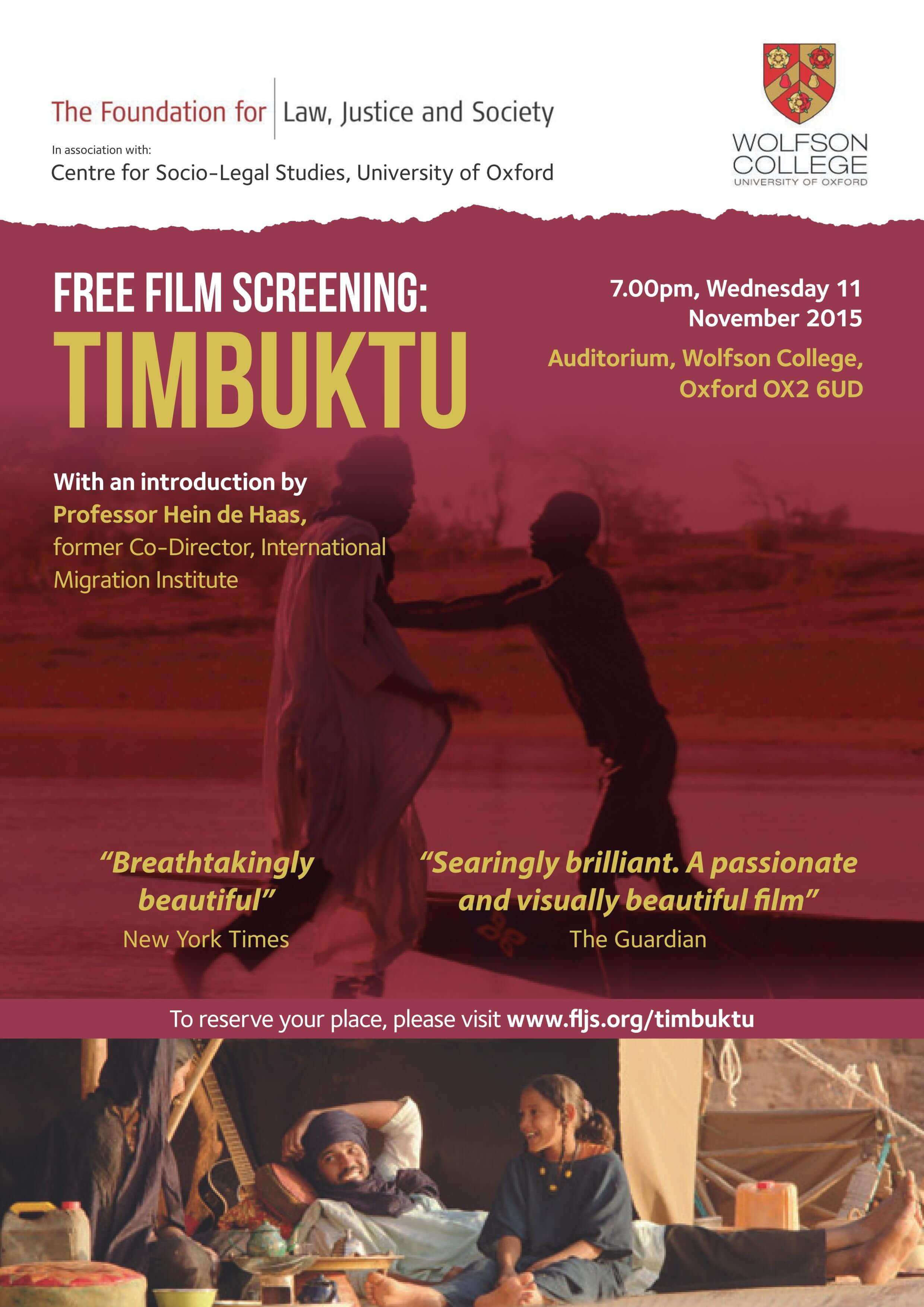 Free Film Screening of Timbuktu in Oxford