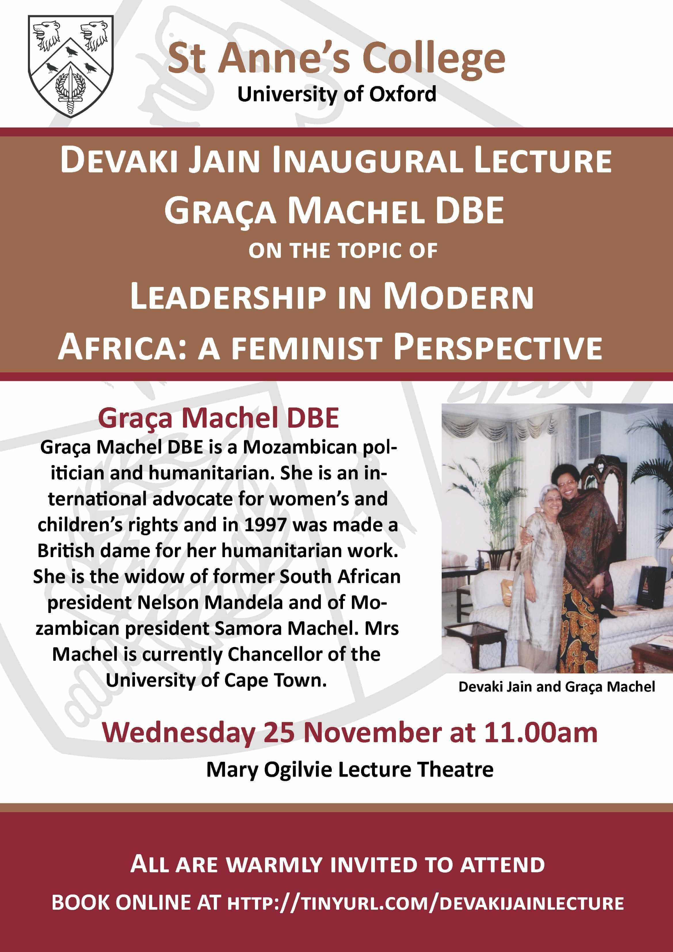 Devaki Jain Inaugural Lecture-Leadership in Modern Africa: A Feminist Perspective by Graca Machel DBE