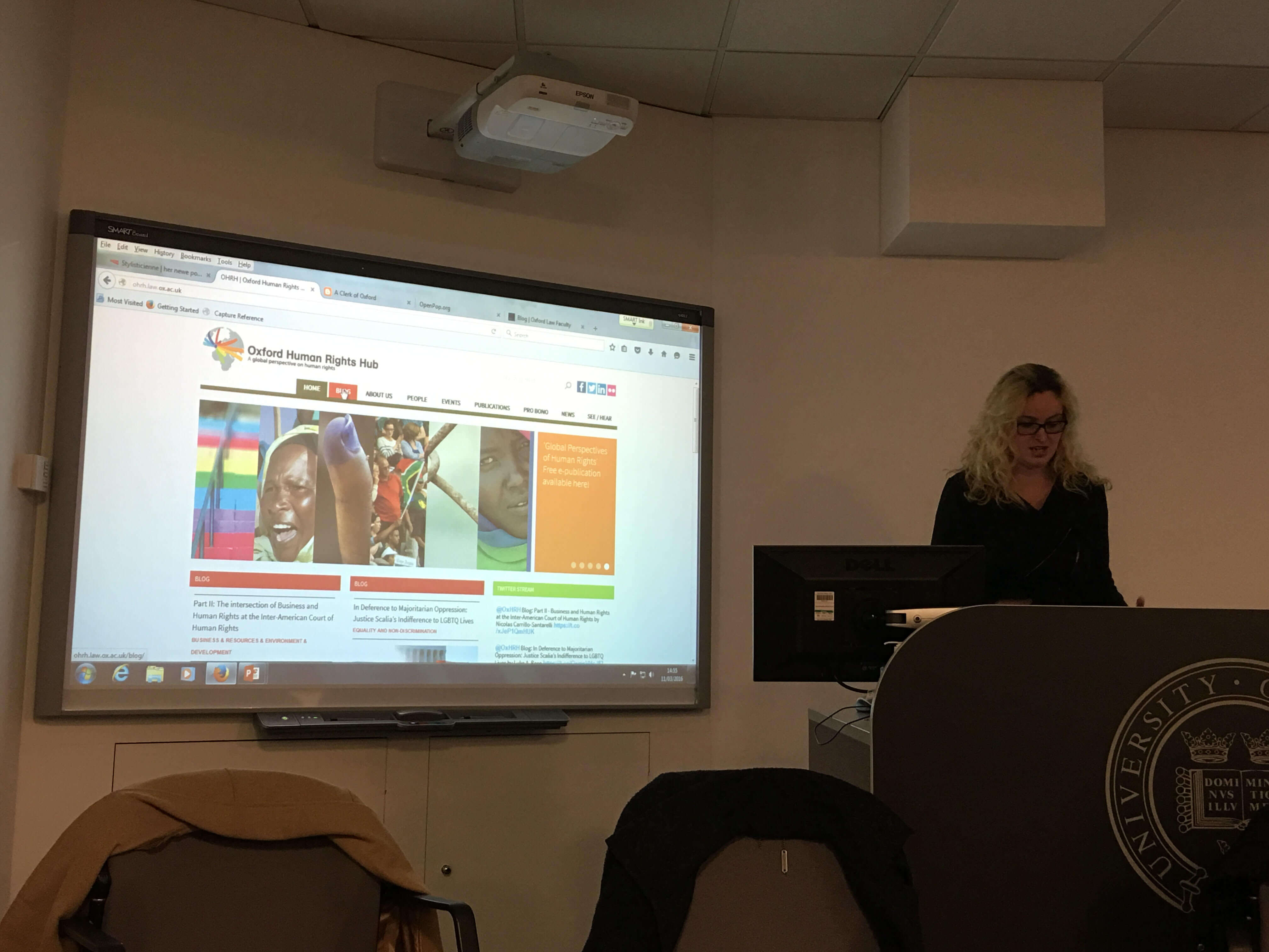 Dr Meghan Campbell, OxHRH Deputy-Director Presents at IT Services Seminar on Blogging and Digtial Scholarship