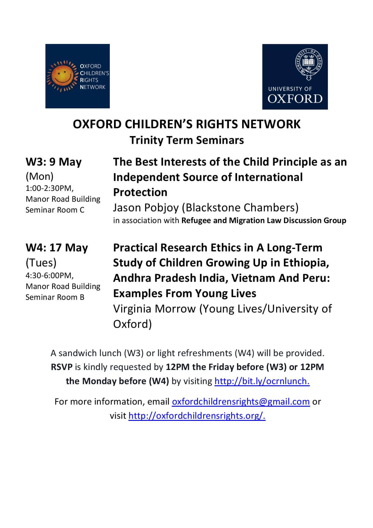 Oxford Children's Rights Network Term Card