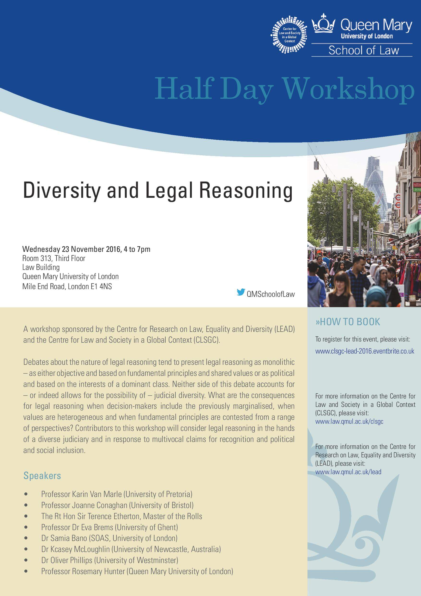 Queen Mary University-Half Day Workshop on Diversity and Legal Reasoning