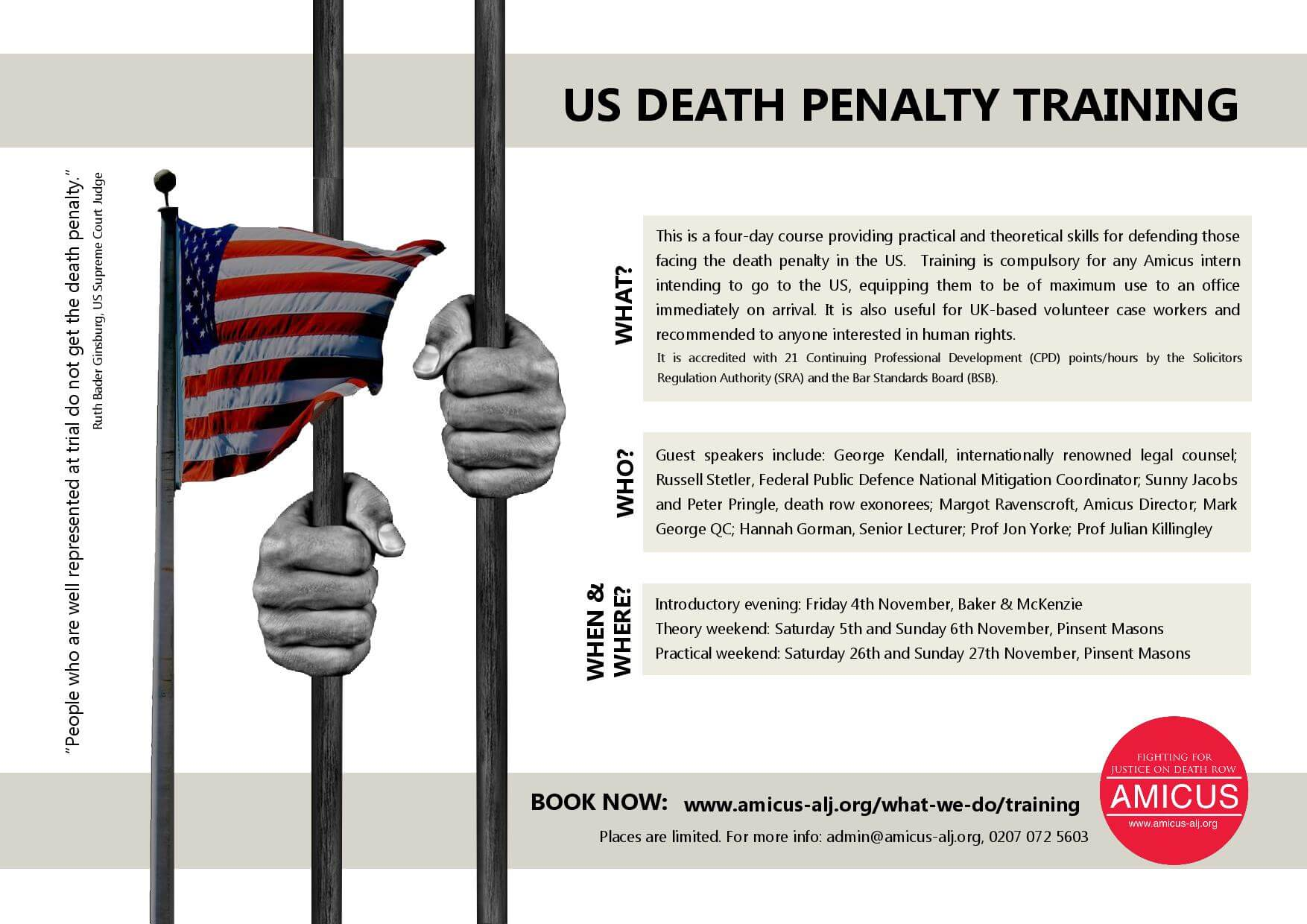 Amicus-US Death Penalty Training Session