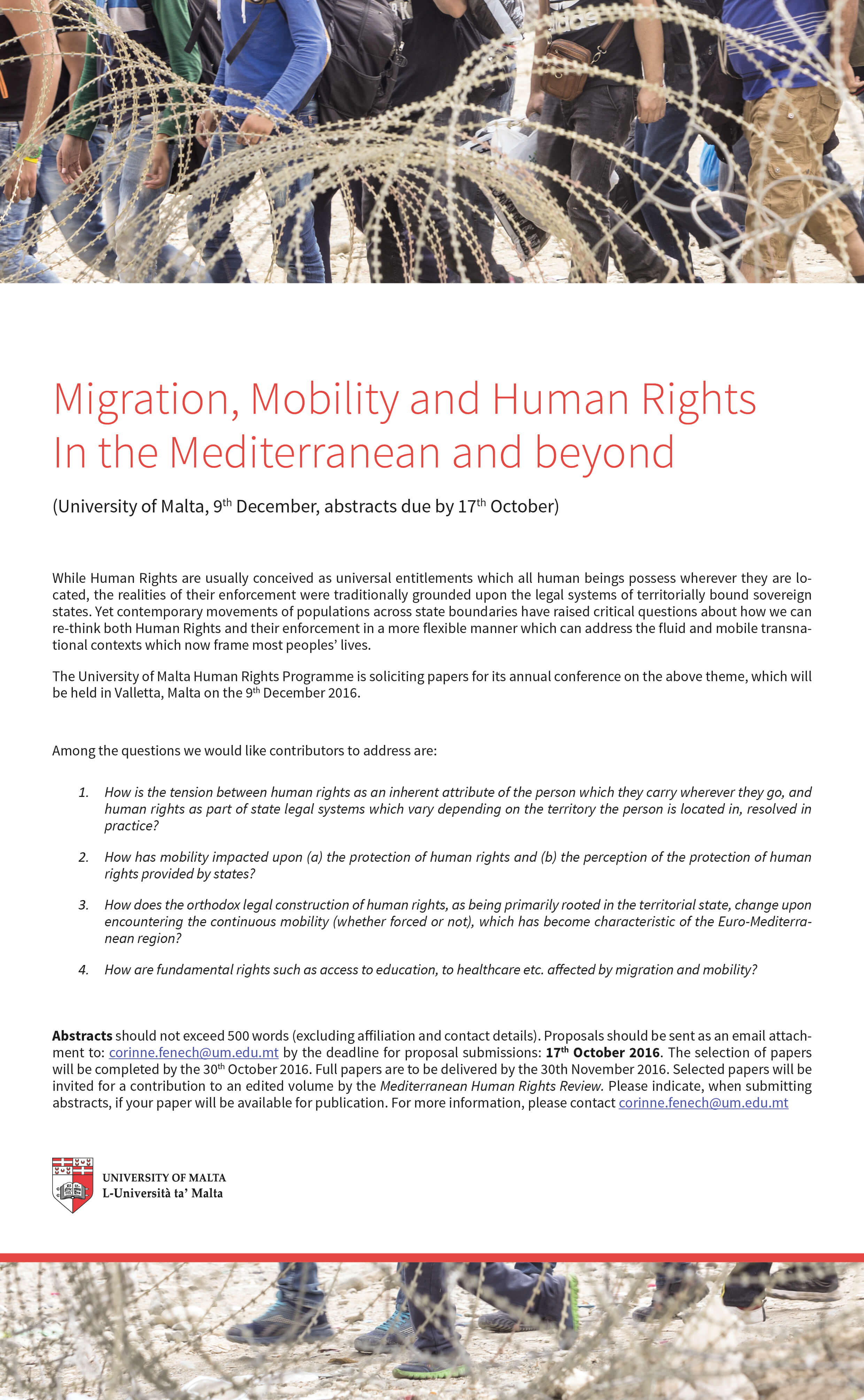University of Malta: Migration, Mobility and Human Right Conference