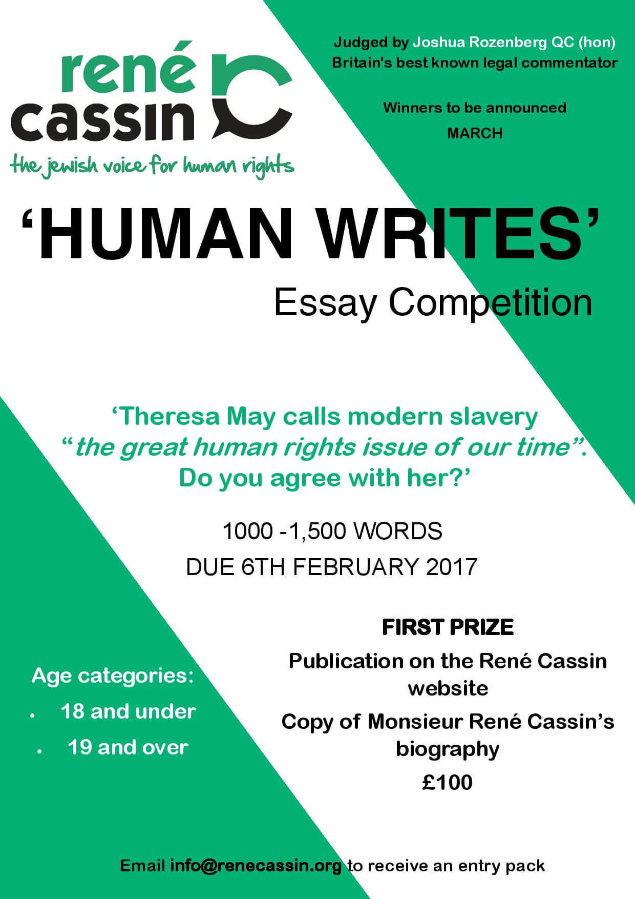 Modern Slavery Essay Competition Now Open!