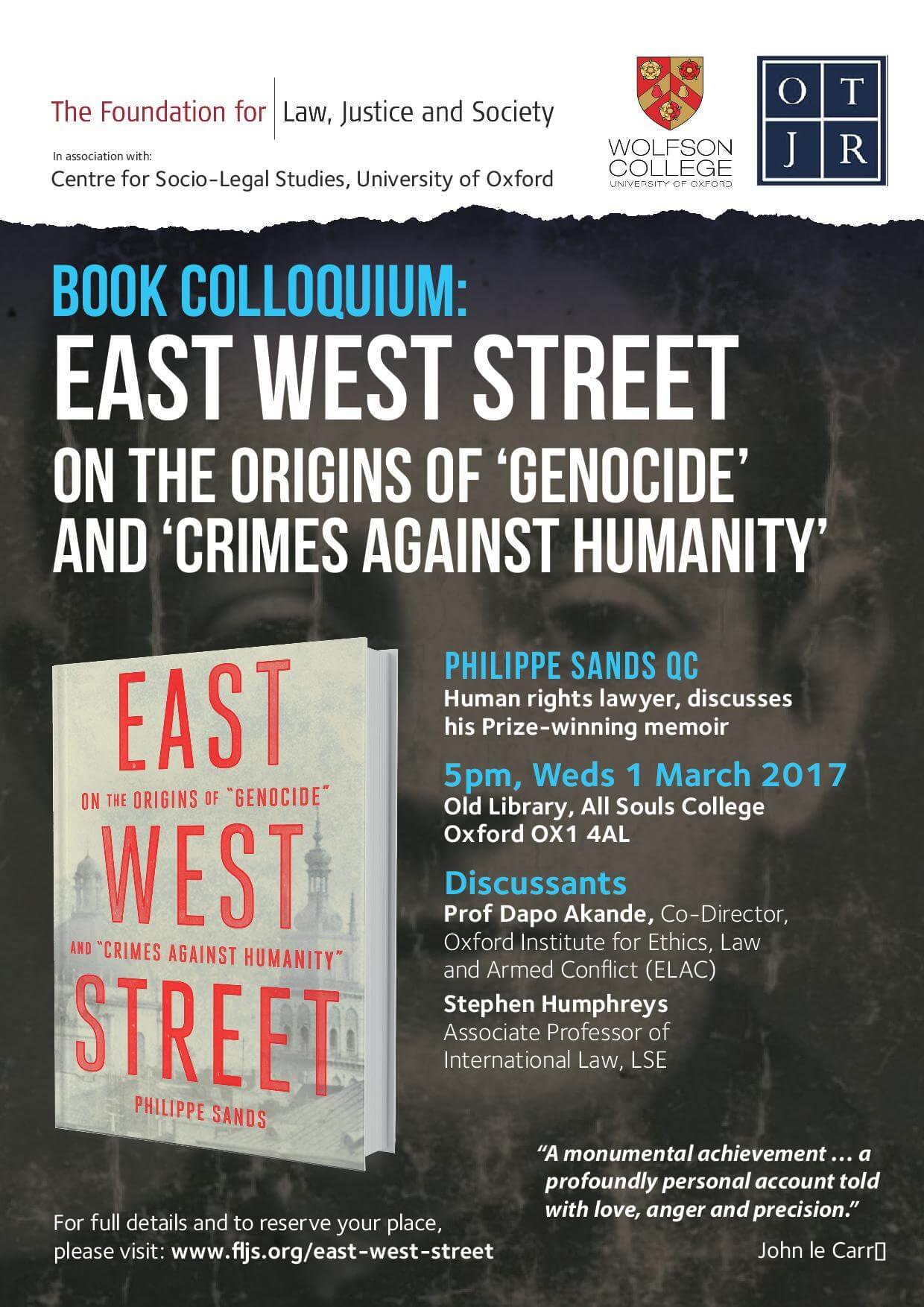 Book Colloquium: East West Street: On the Origins of 'Genocide' and 'Crimes against Humanity'