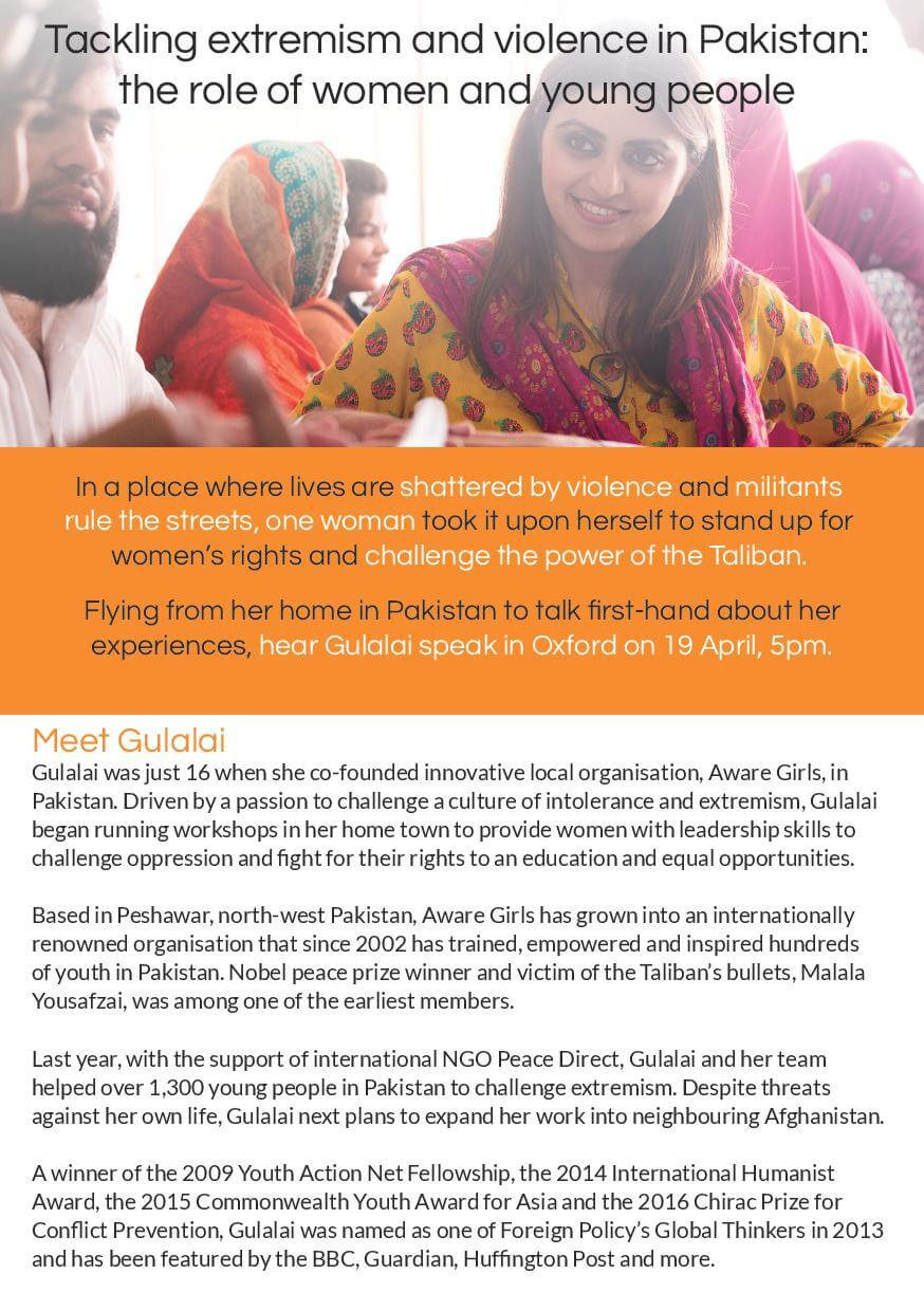 Tackling Extremism and Violence in Pakistan: The Role of Women and Young People