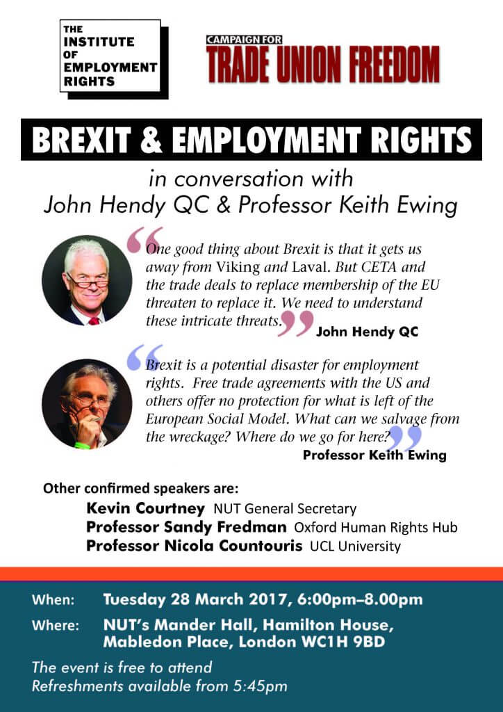 The Institute of Employment Rights-Brexit and Employment Rights