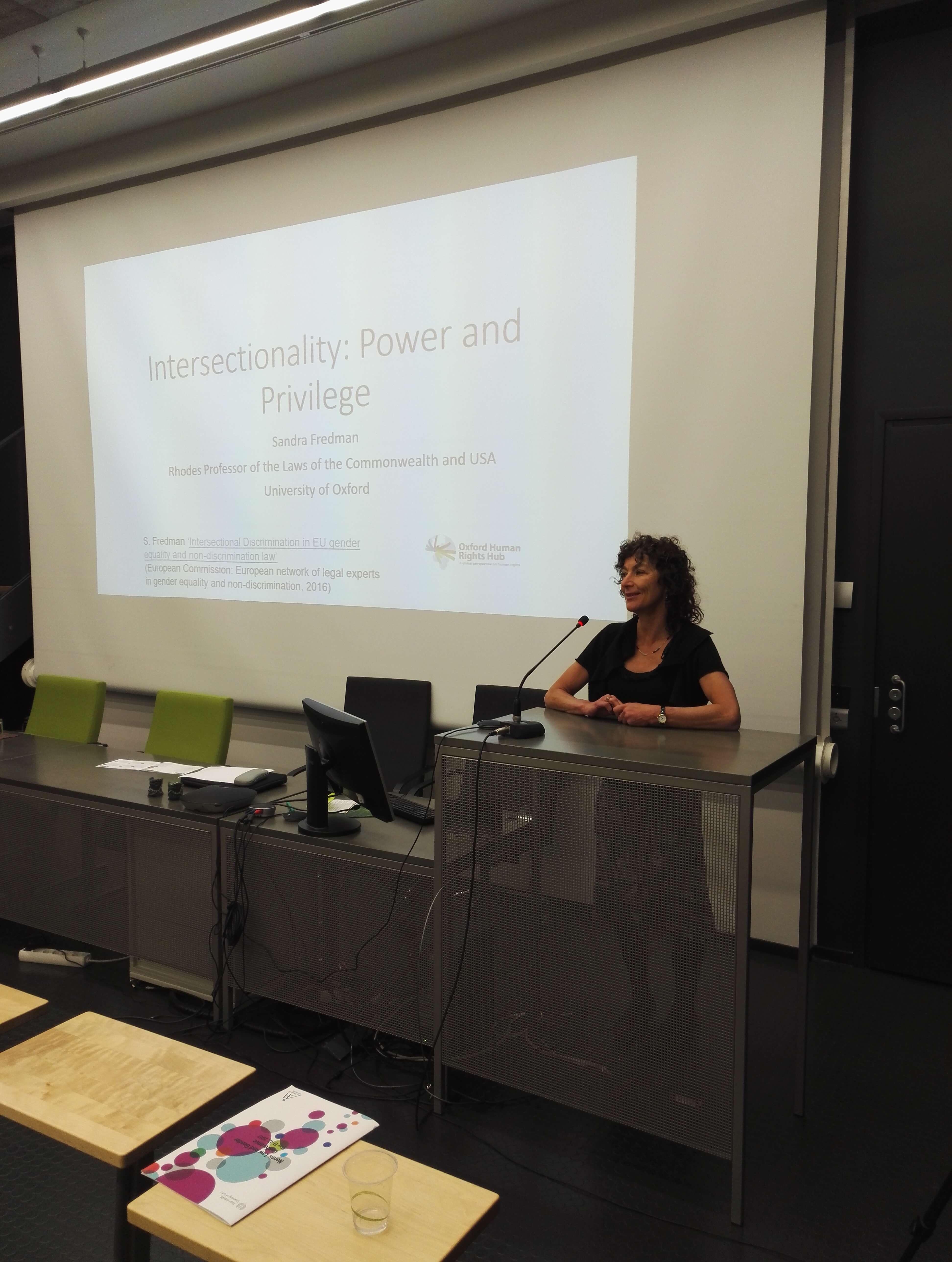 OxHRH Director Sandra Fredman Gives Keynote Address at Nordic Law and Gender Conference