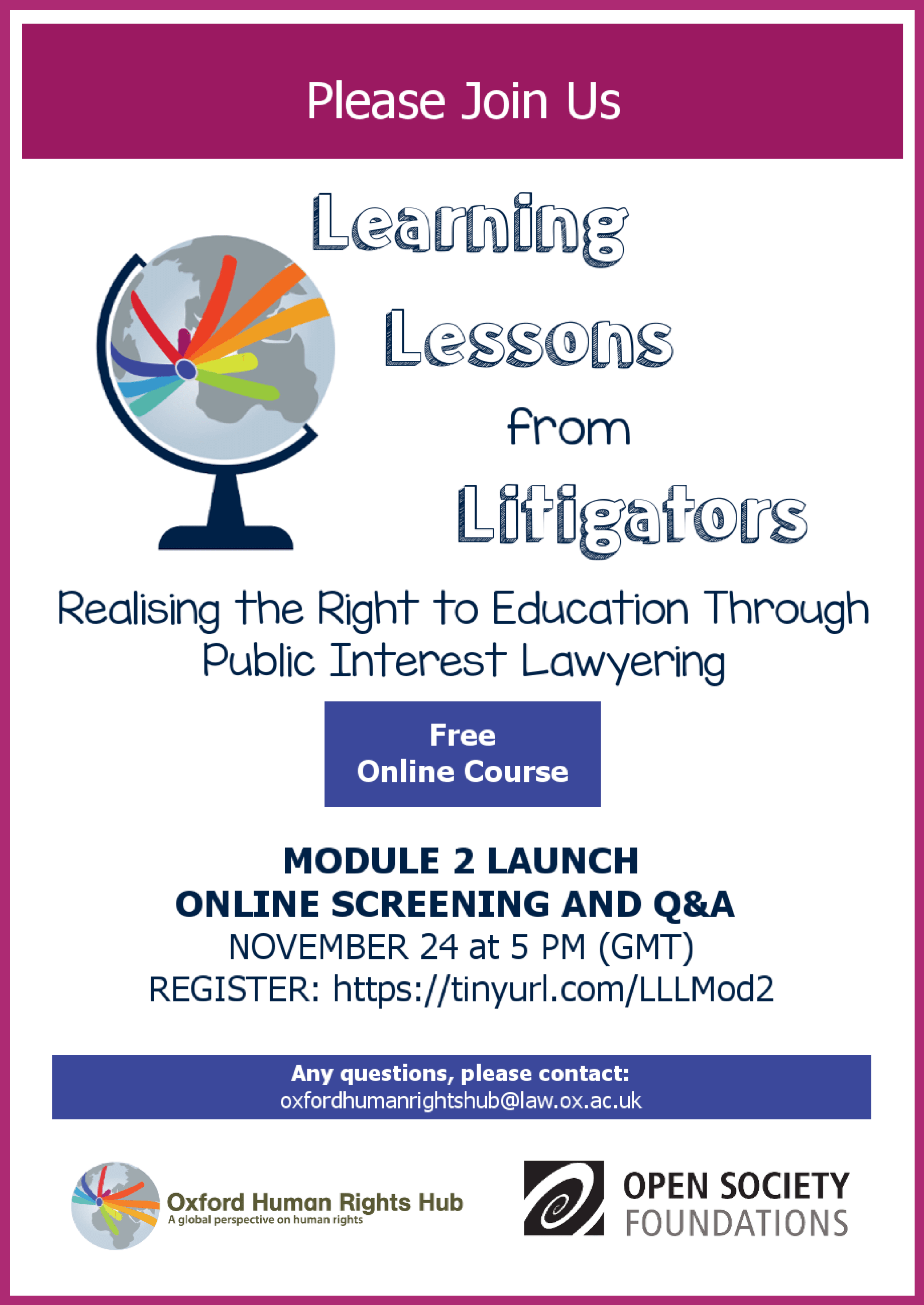 Sign Up for Module 2 of Learning Lessons from Litigators!