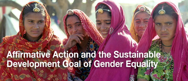 Affirmative Action and the Sustainable Development Goal of Gender Equality