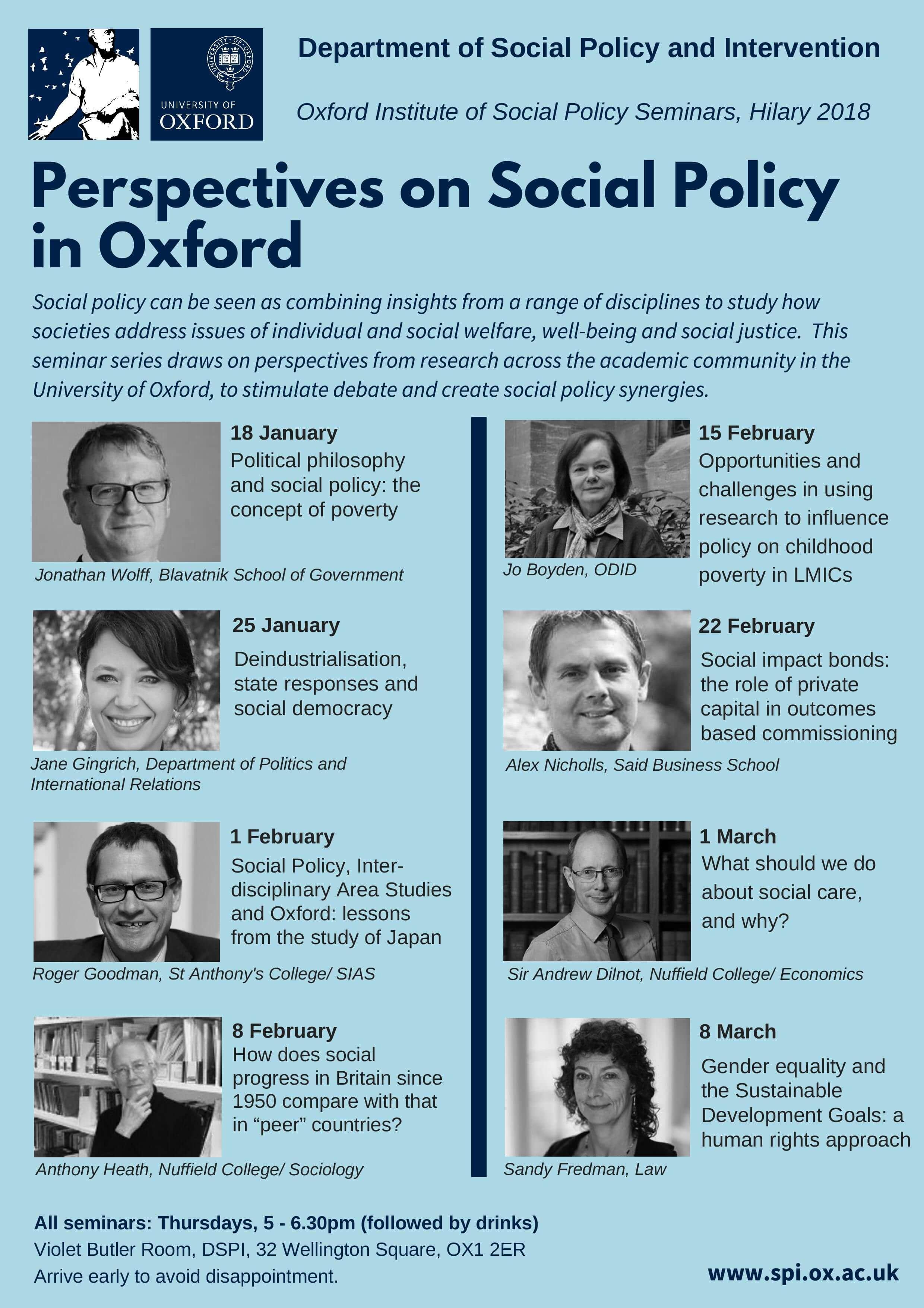 Perspectives on Social Policy Seminar Series