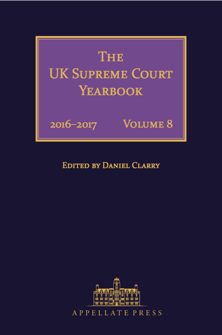 Launch of The UK Supreme Court Yearbook-Firing the Brexit Bullet