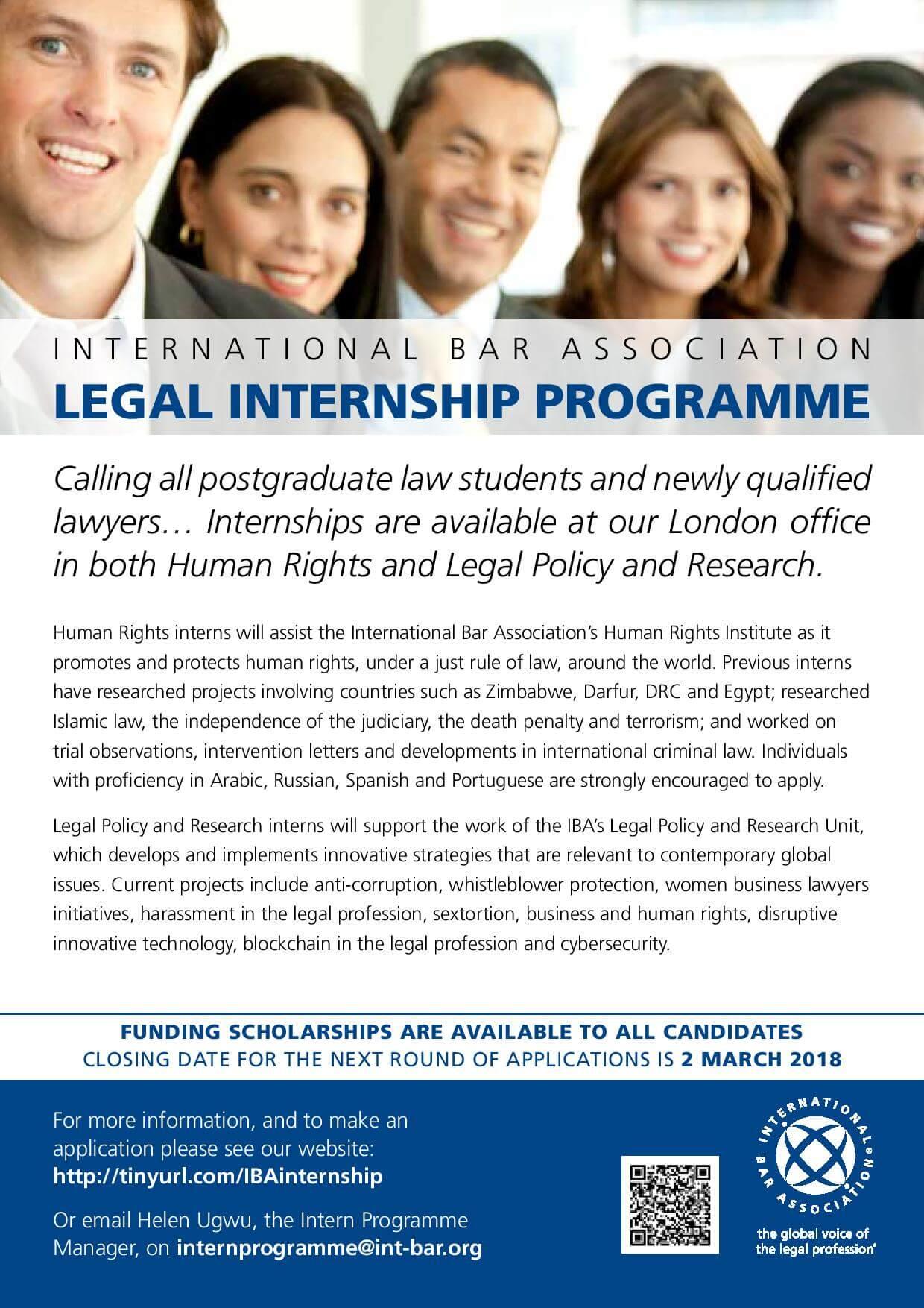 International Bar Association Internships