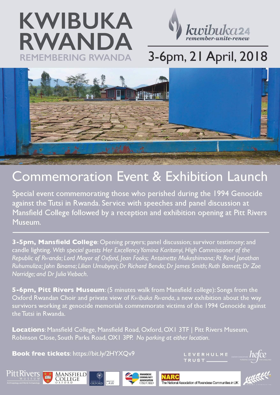 Kwibuka Rwanda-Remembering Rwanda Event