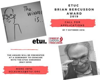 European Trade Union Confederation Brian Bercusson Award