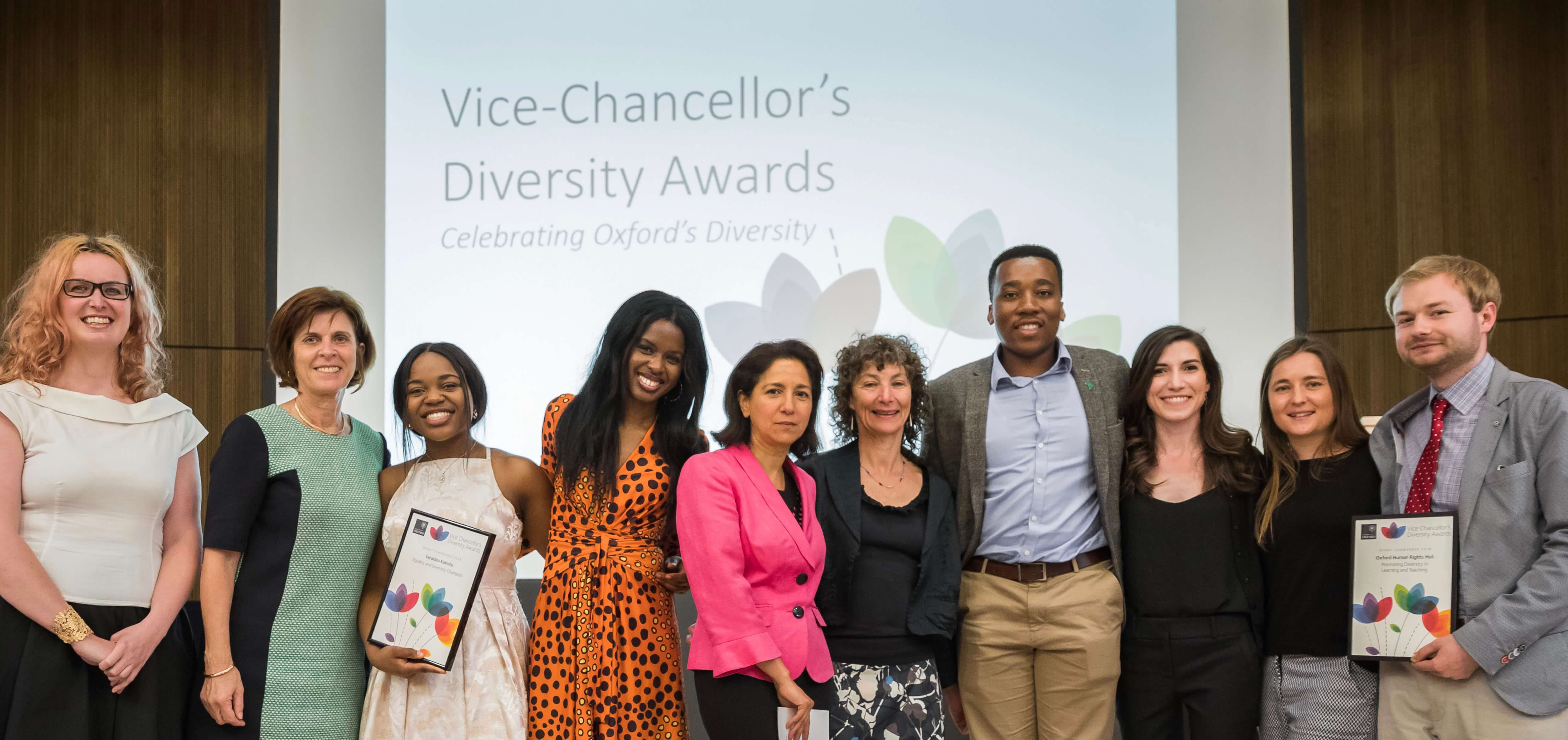 OxHRH Honoured at the Vice-Chancellor's Diversity Awards