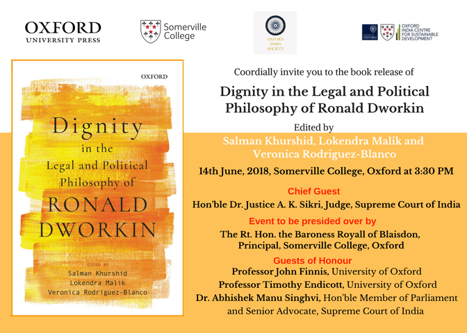 Book Launch: Dignity in the Legal and Political Philosophy of Ronald Dworkin