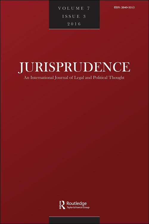 Special Issue of Jurisprudence: A Book Symposium on Ruth Dukes' The Labour Constitution