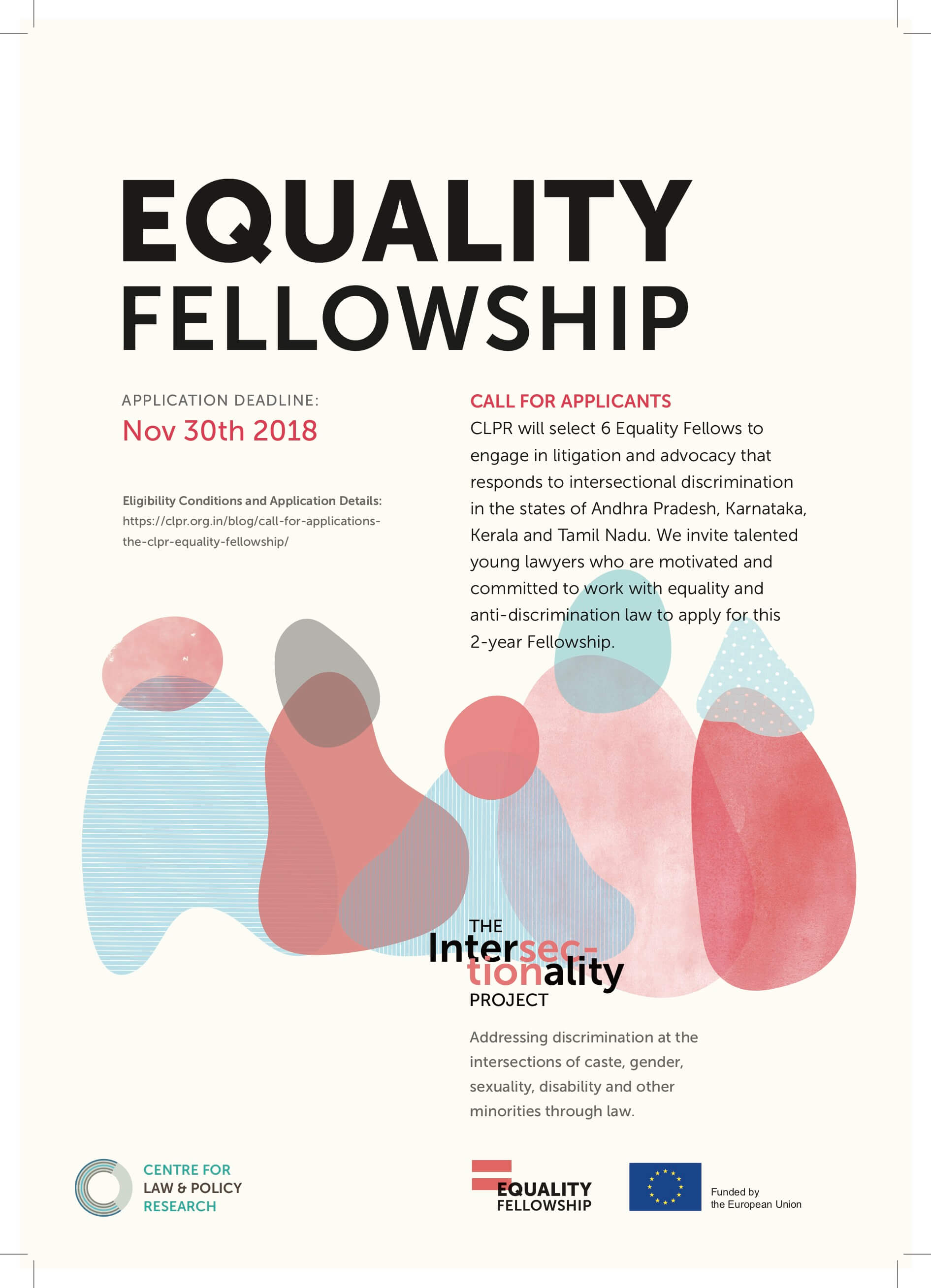 Applications for Centre for Law and Policy Equality Fellowships