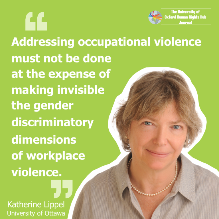 **New** U of OxHRH J Article 'Conceptualsing Violence Through a Gender Lens'