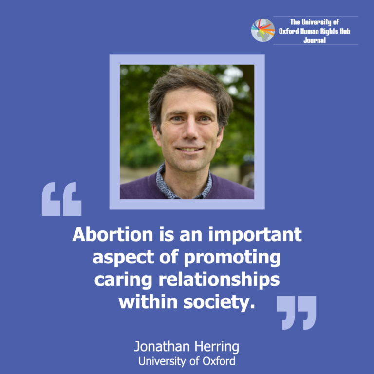 **New** U of OxHRH J Article-'Ethics of Care and The Public Good of Abortion'