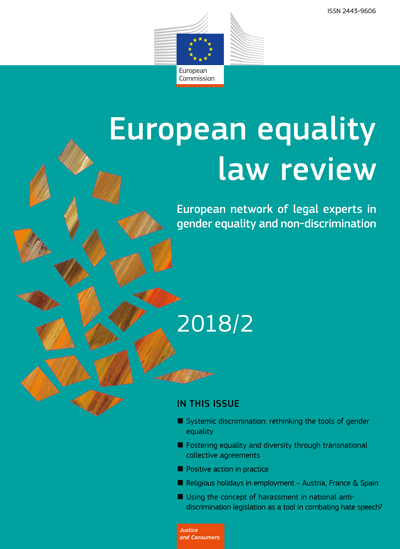 European Equality Law Review 2019 Call for Abstracts: European Gender Equality and Non-Discrimination Law