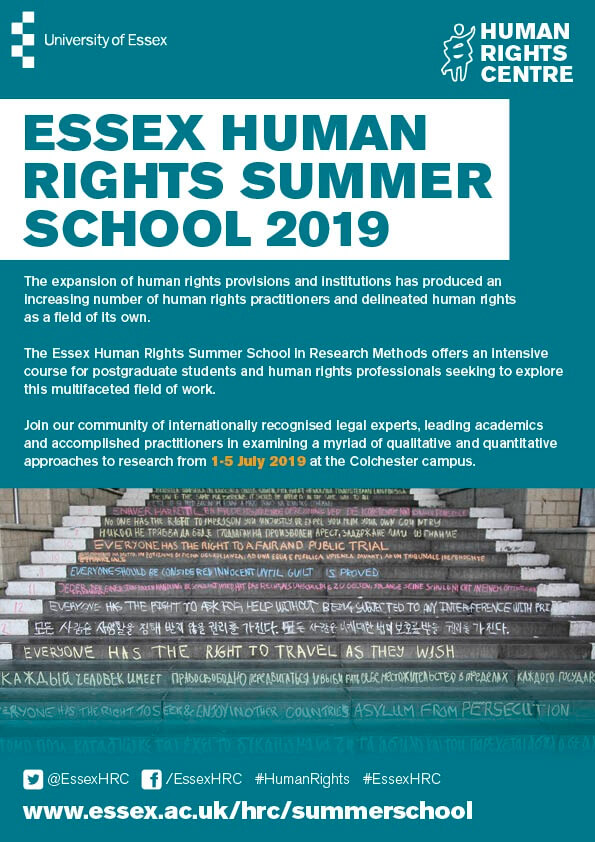 Essex Summer School in Human Rights Research Methods: 1-5 July 2019
