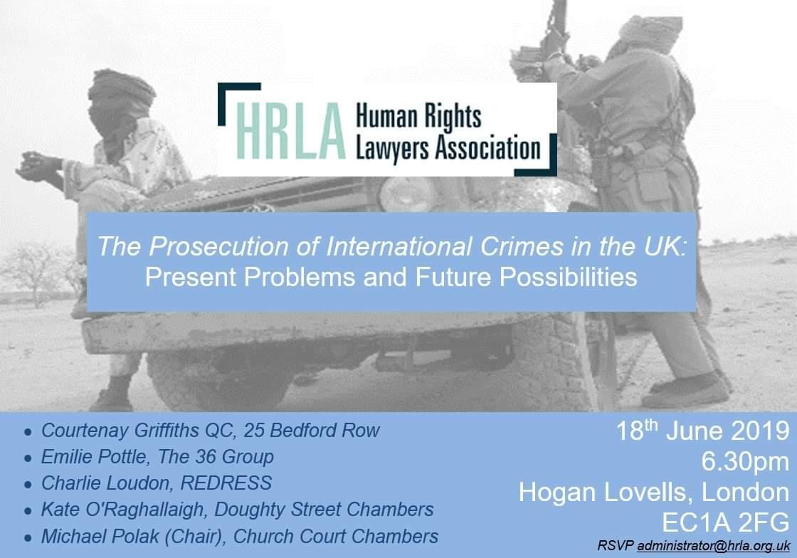 Event: 'The Prosecution of International Crimes in the UK: Present Problems and Future Possibilities'