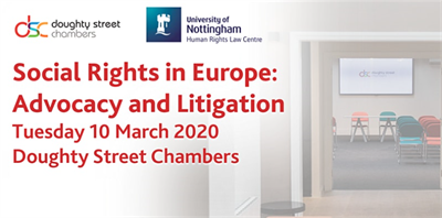 Training Course: Social Rights in Europe: Advocacy and Litigation, 10th March 2020