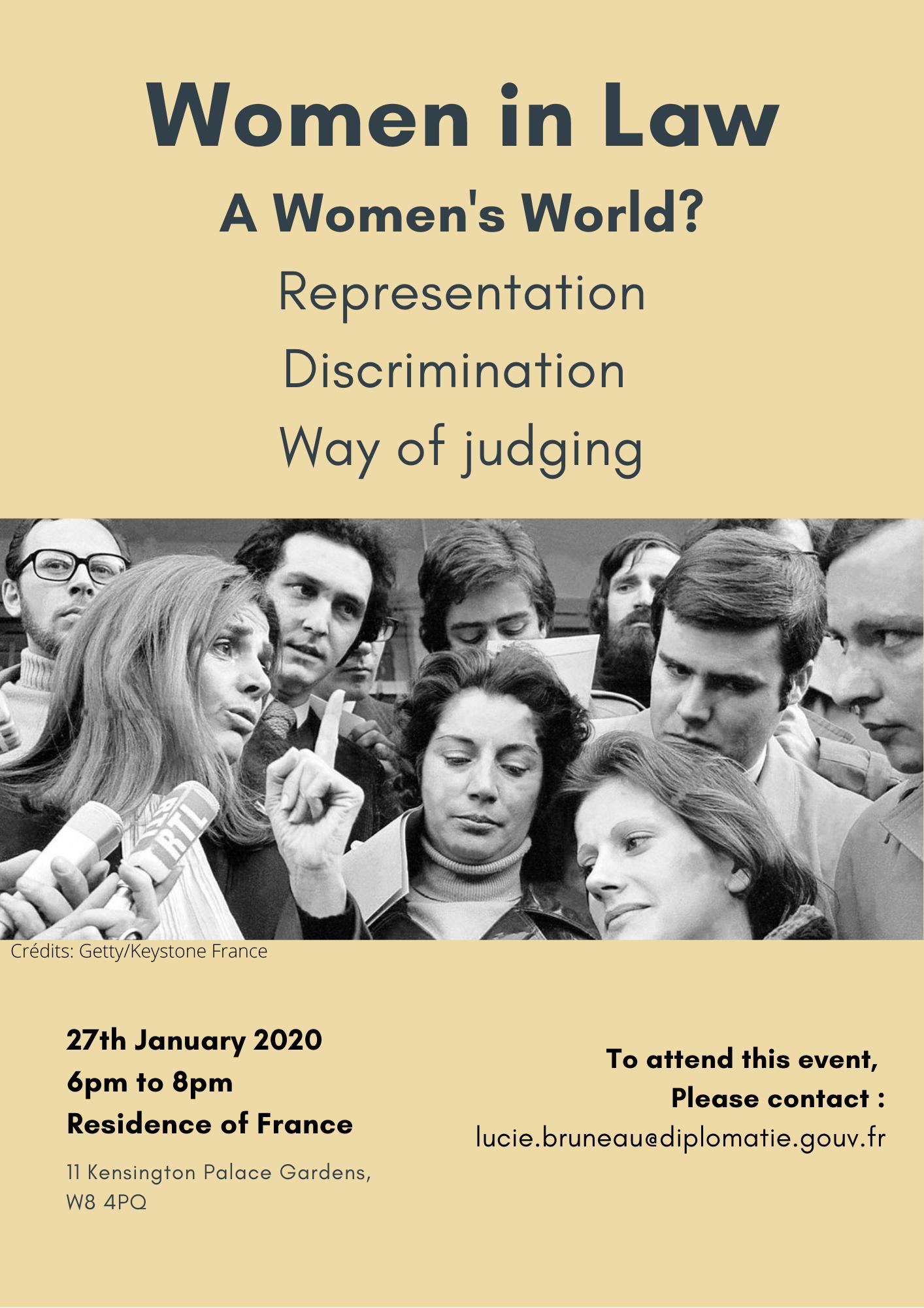 Women in Law: A Women's World? Roundtable 27 January 2020