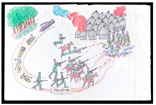 Reading Room Exhibition: Child Survivors' Drawings of the Genocide in Darfur
