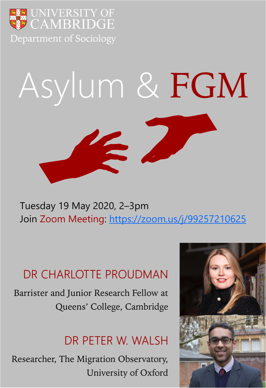 Webinar Tuesday 19 May: FGM, Asylum Law and FGM Protection Orders in Britain