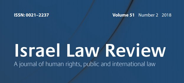 Israel Law Review Call For Papers