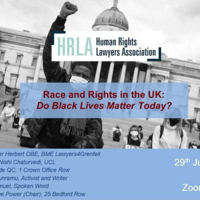Race and Rights in the UK – Do Black Lives Matter Today?