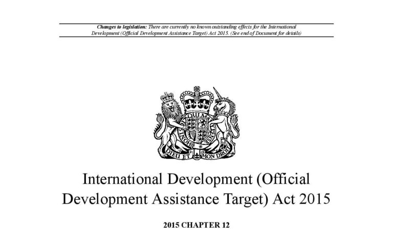 The Mirage of Accountability: Overseas Development Aid and the Law