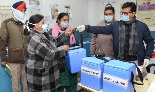 Digital Divide on the Promise of 'Vaccination for All': India