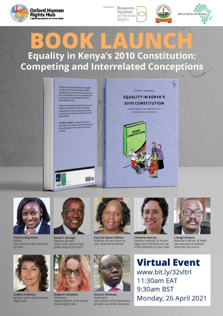 Book Launch: Equality in Kenya's 2010 Constitution-Understanding Competing and Interrelated Concepts